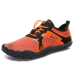 Mens Barefoot Five Fingers Shoes Summer Running Shoes for Men Outdoor Lightweight Quick Aqua Shoes Fitness Sports Sneakers