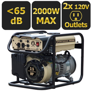 Portable Gasoline Generator 2000-Watt