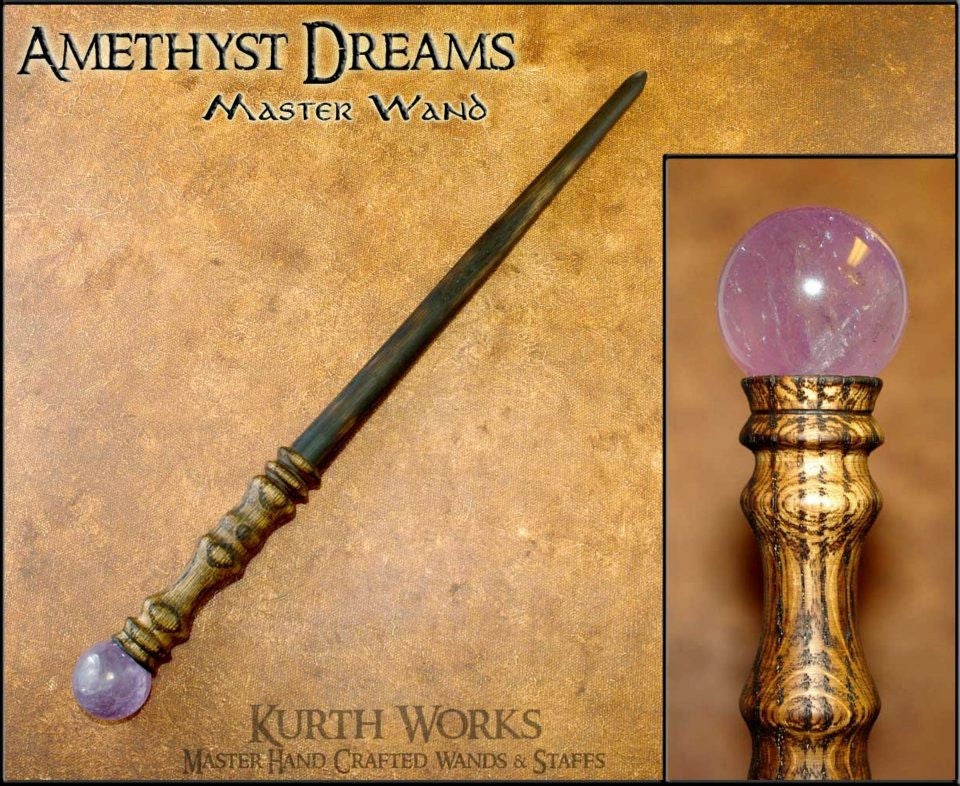 Amethyst Dreams Wizard Crystal Magic Wand
