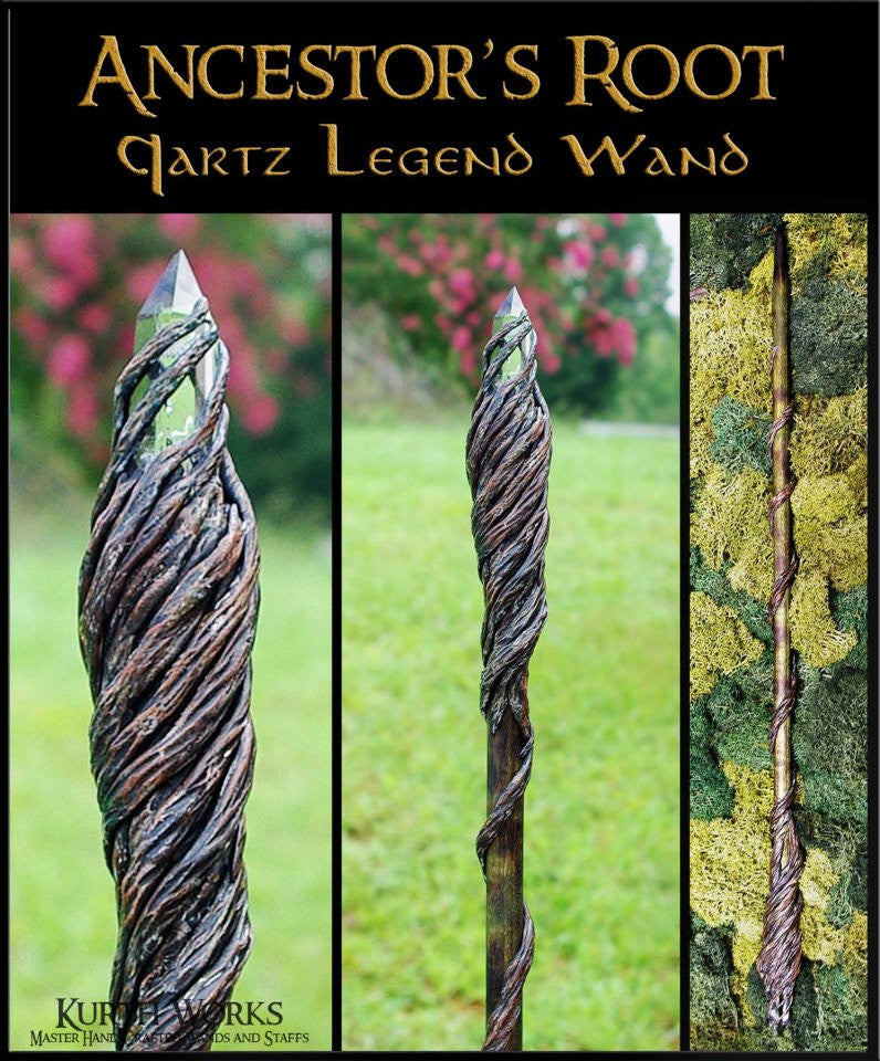Ancetor's Root Crystal Wizard Magic Wand 2