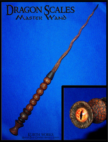 Dragon Scales Spiraled Magic Wand