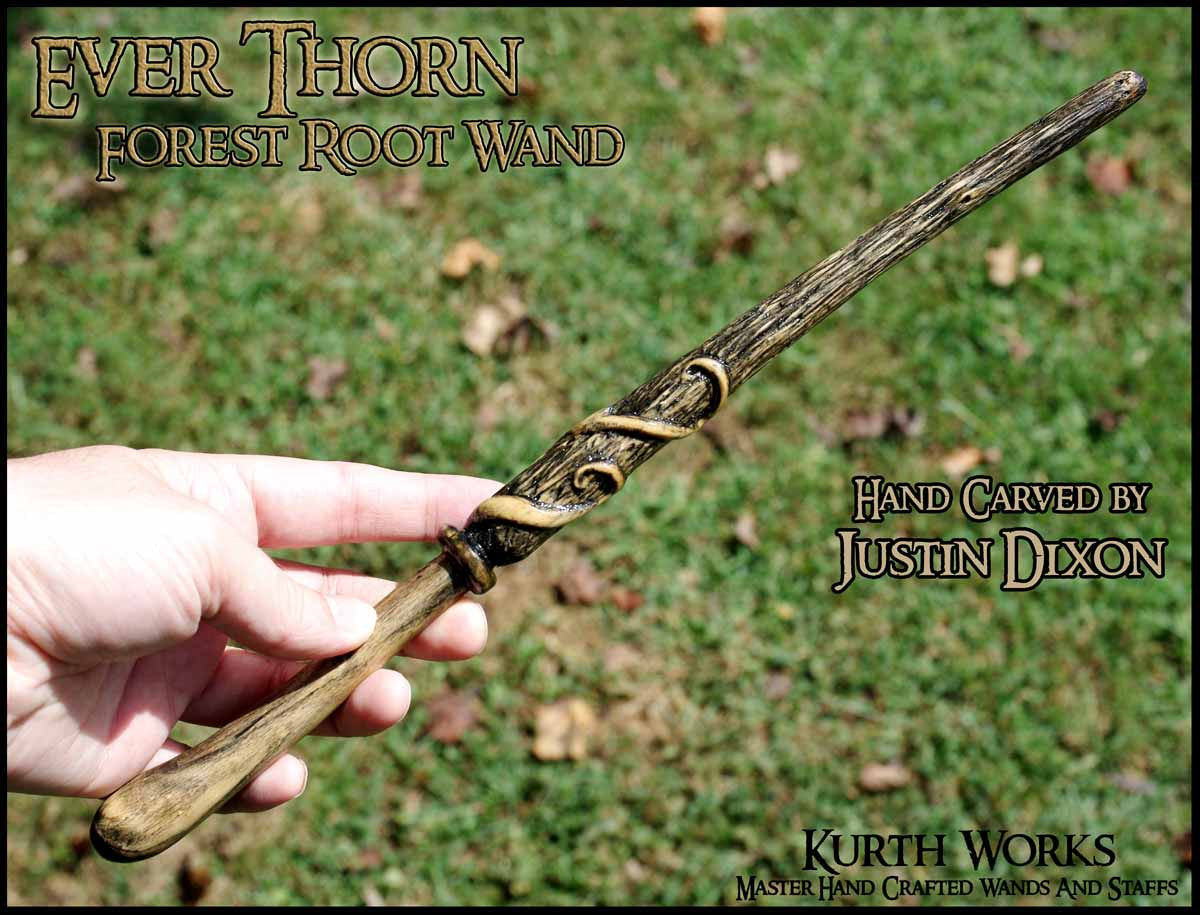Ever Thorn Magic Wizard Wooden Wand