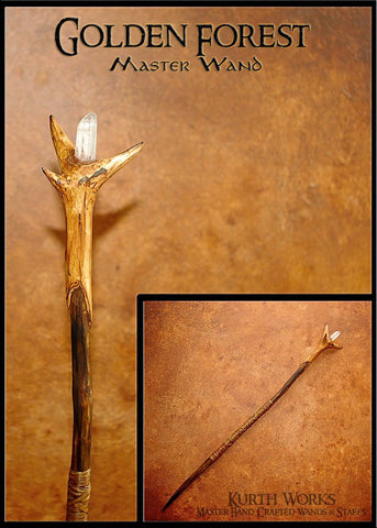 Golden Forest Crystal Wizard Magic Wand 6