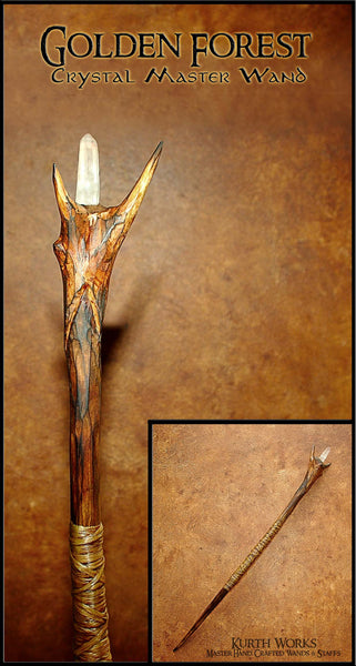 Golden Forest Crystal Wizard Magic Wand 8