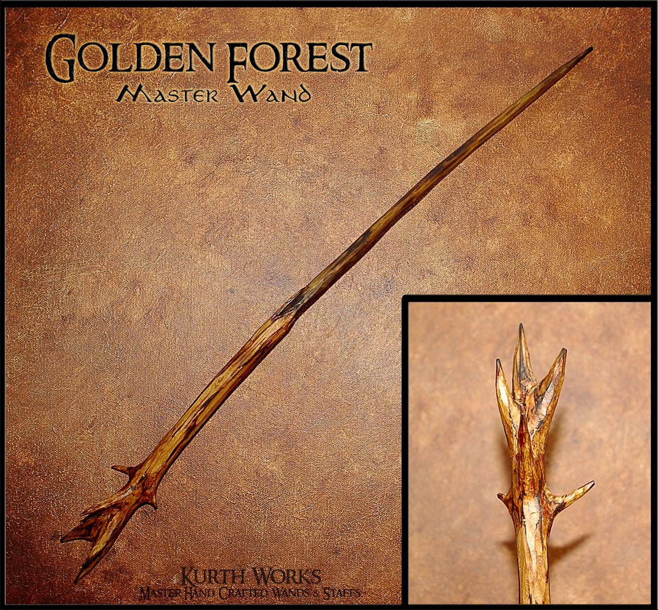 Golden Forest Wizard Magic Wand 9
