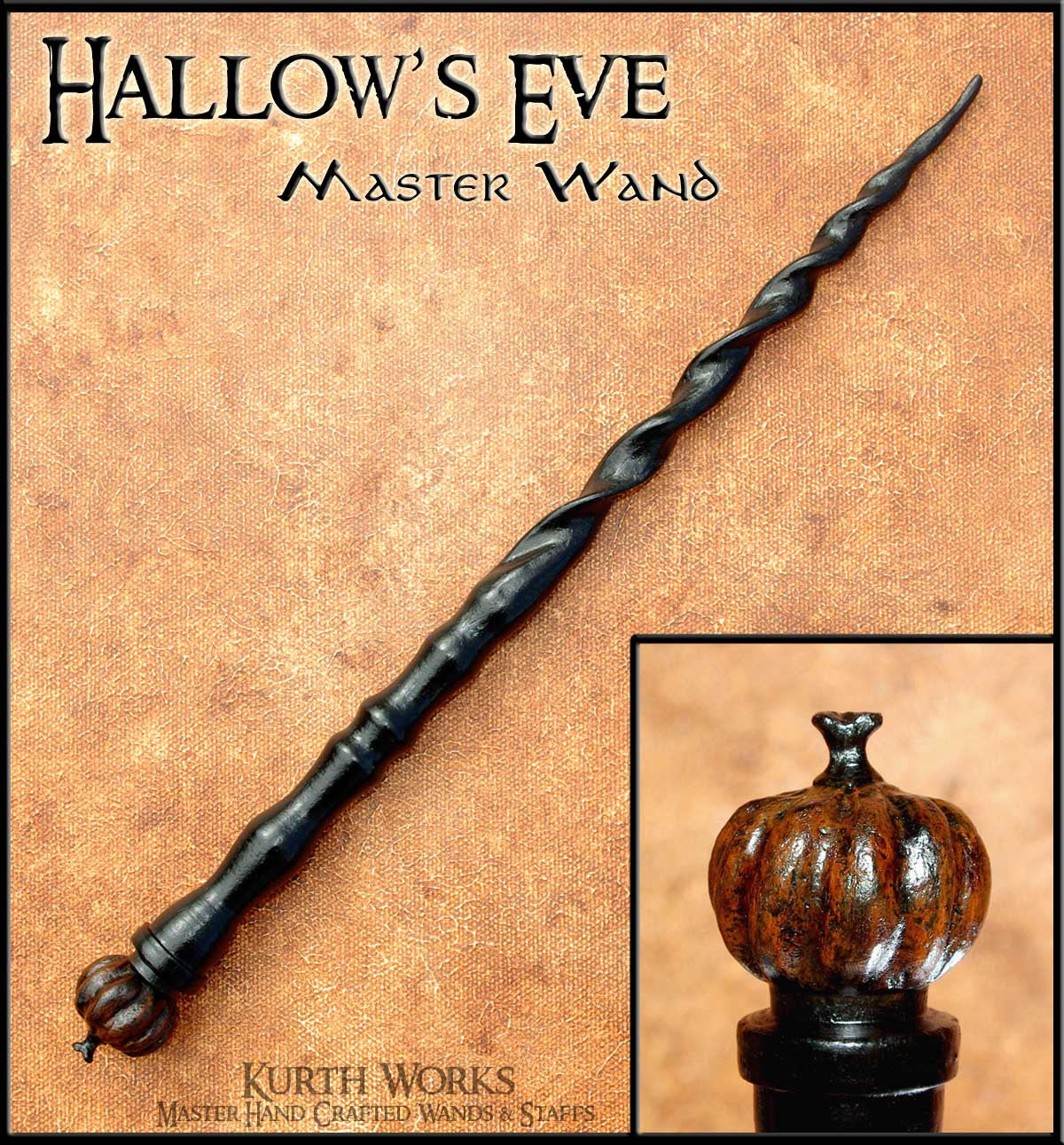 Hallows Eve Spiraled Wizard Magic Wand