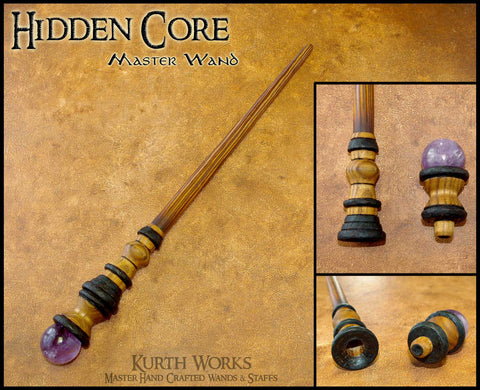 Hidden Core Amethyst Wizard Magic Wand