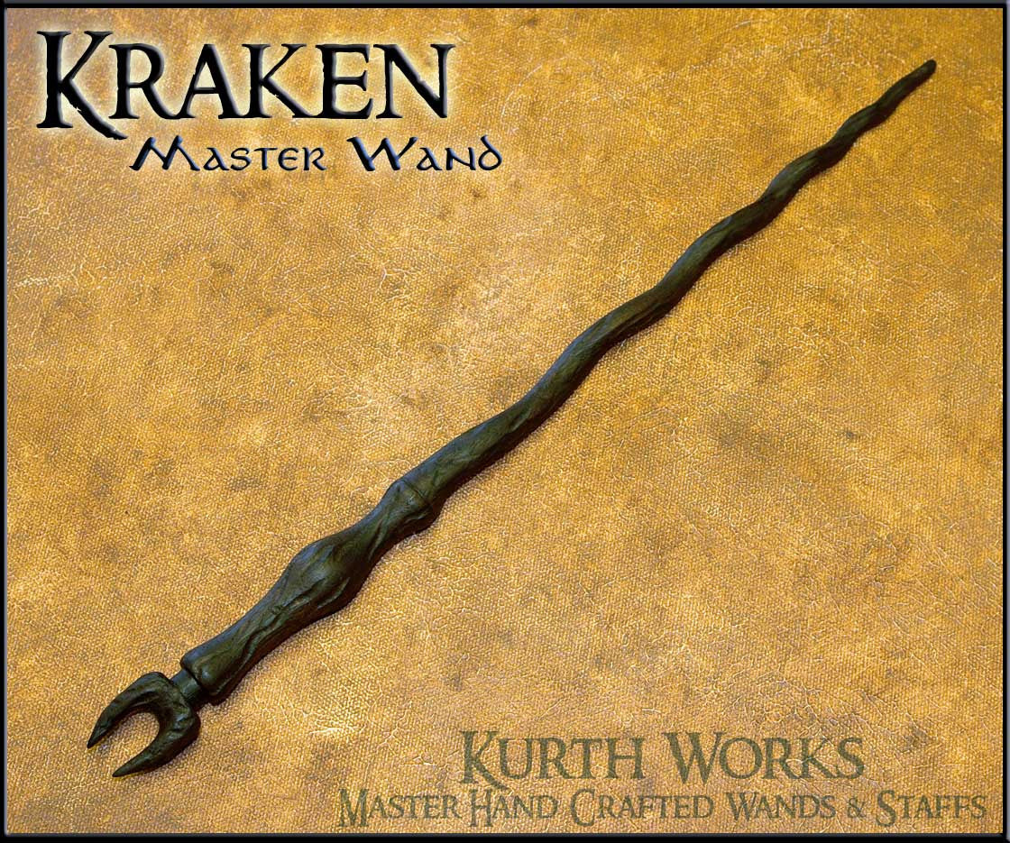 Kracken Wizard Spiraled Magic Wand
