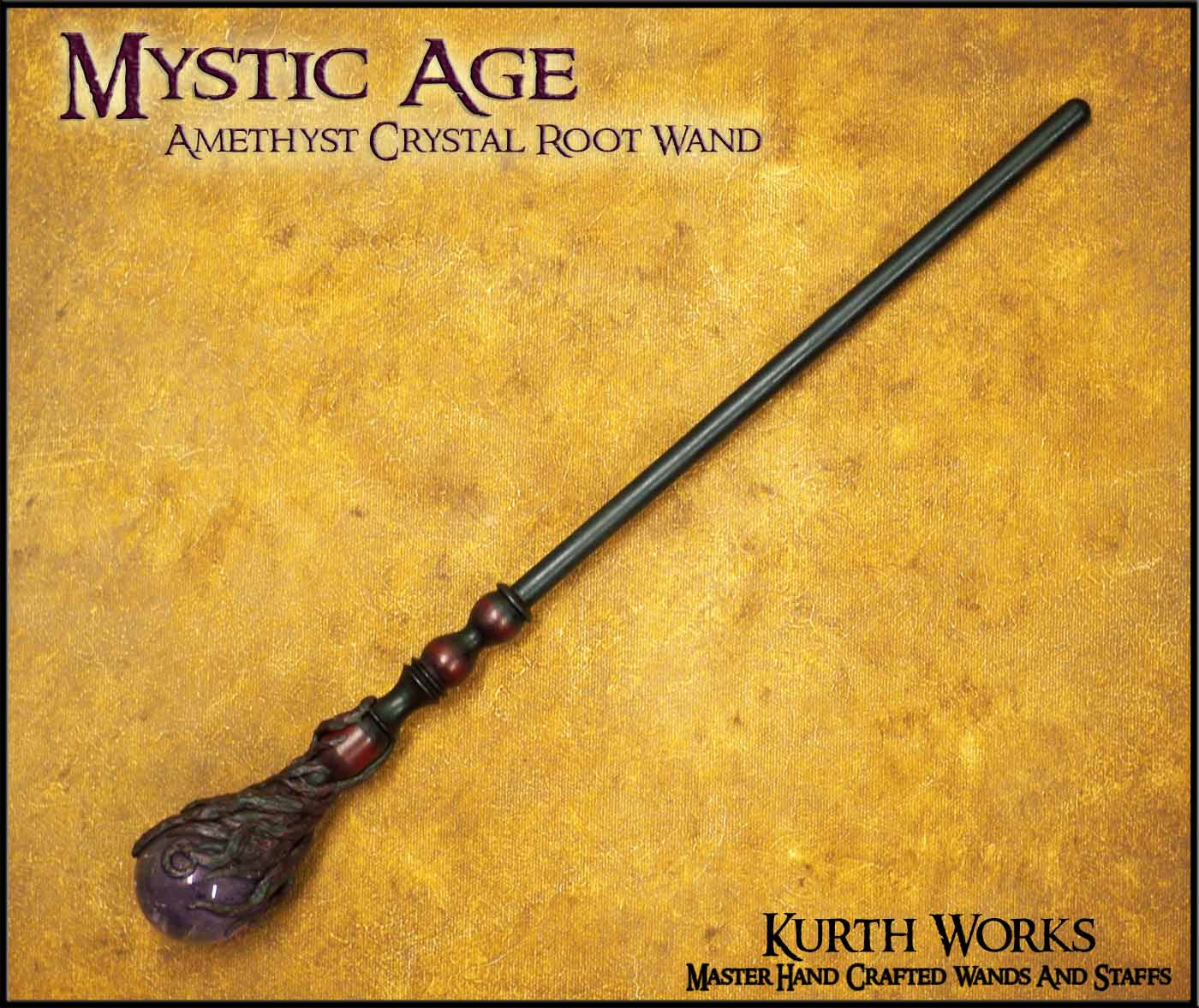 Mystic Age Amethyst Crystal Wizard Magic Wand