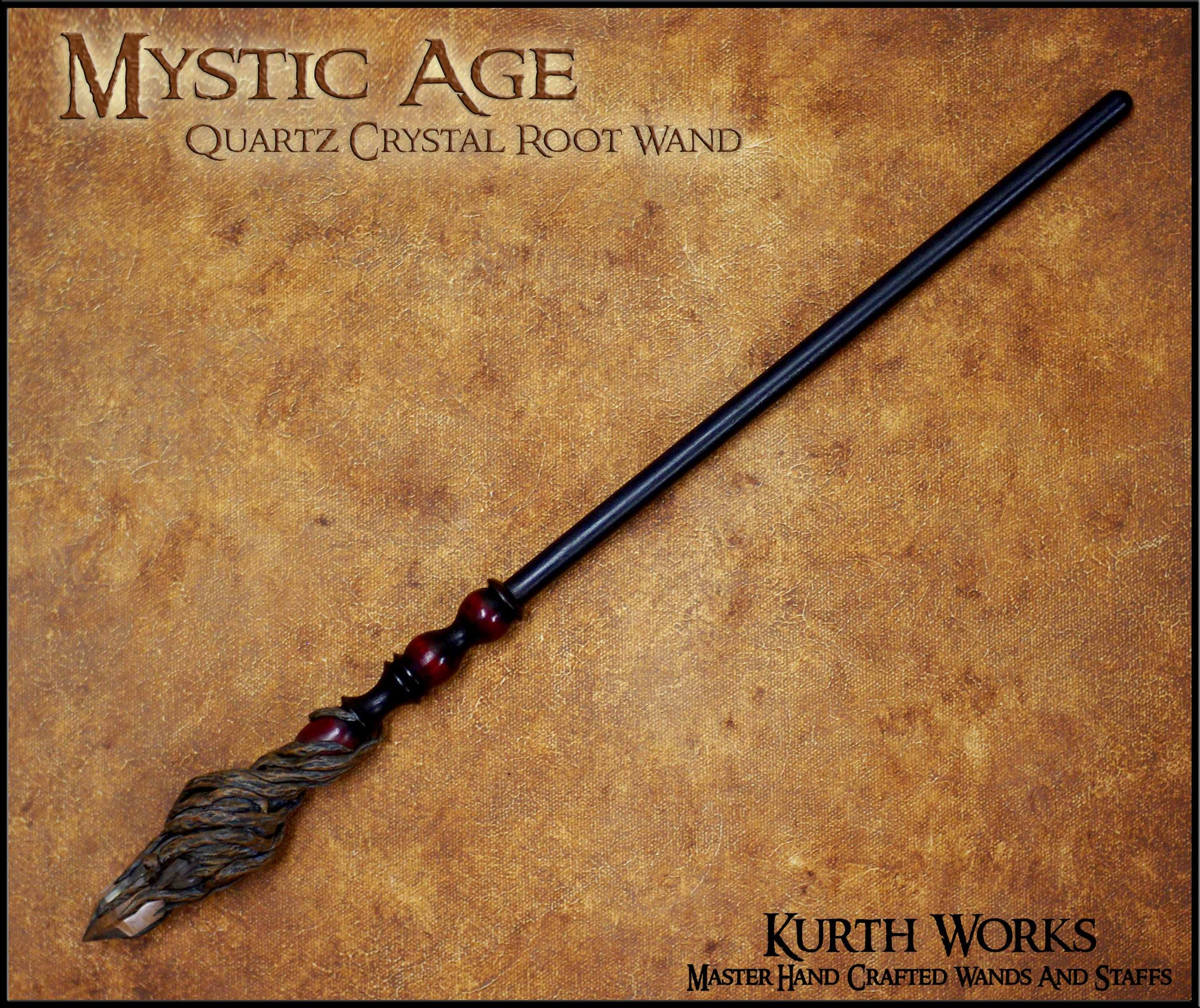 Mystic Age Quartz Crystal Point Wizard Magic Wand