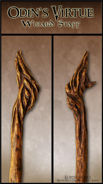 Odin's Virtue Magic Wizard Staff