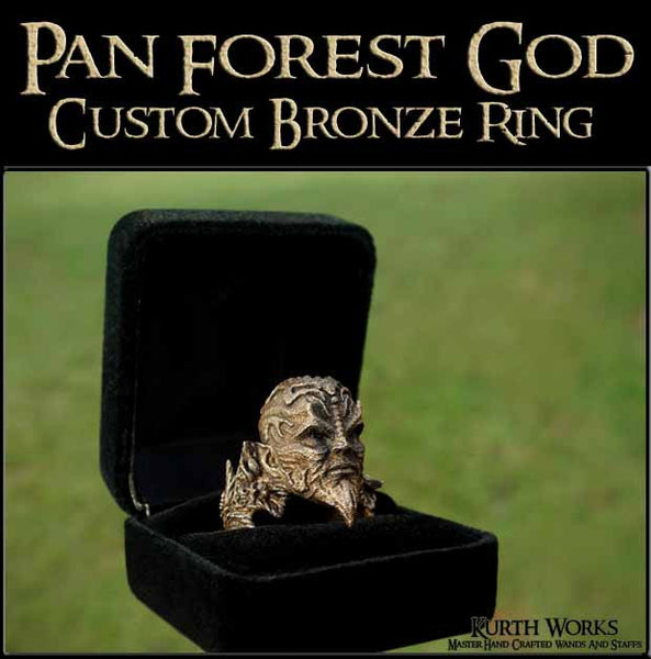 Copy of Pan Forest God Bronze Custom Ring 2