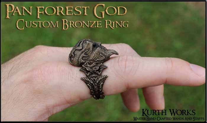Pan Forest God Bronze Custom Ring