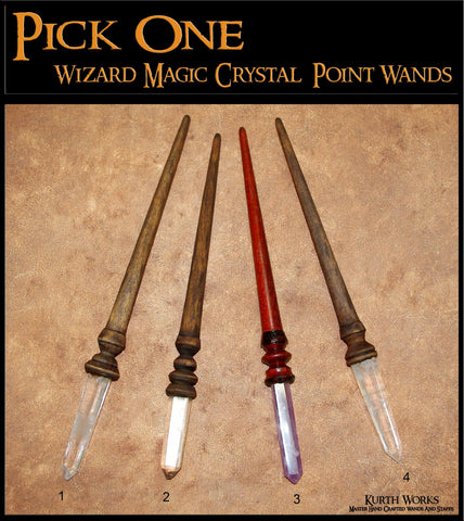 3. Pick One Magic Wizard Crystal Quartz Amethyst Point Birch Wand