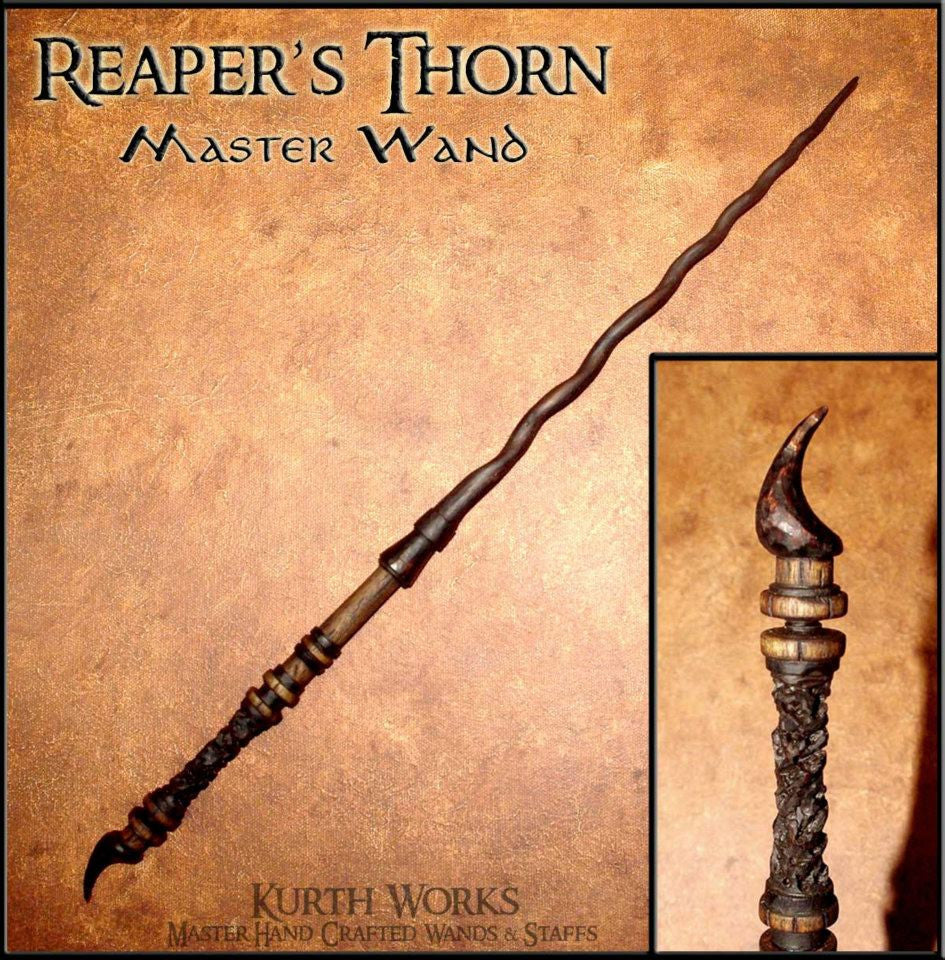 Reaper's Thorn Wizard Spiraled Magic Wand