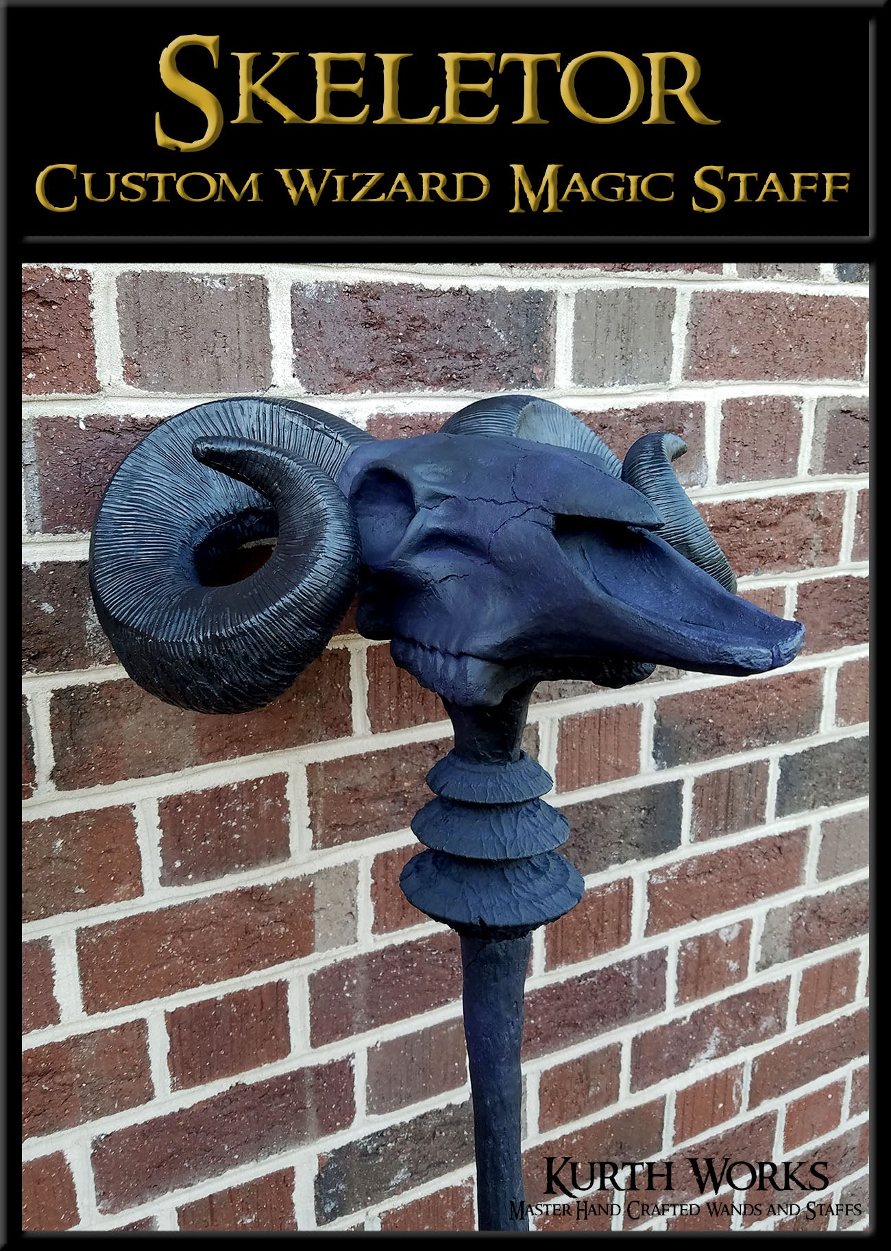 Skeletor Custom Wizard Magic Fantasy He-Man Staff