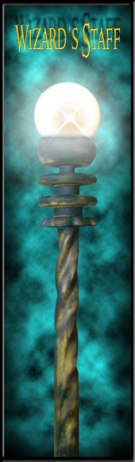 Dark Cloud Crystal Spiraled Wizard Magic Staff