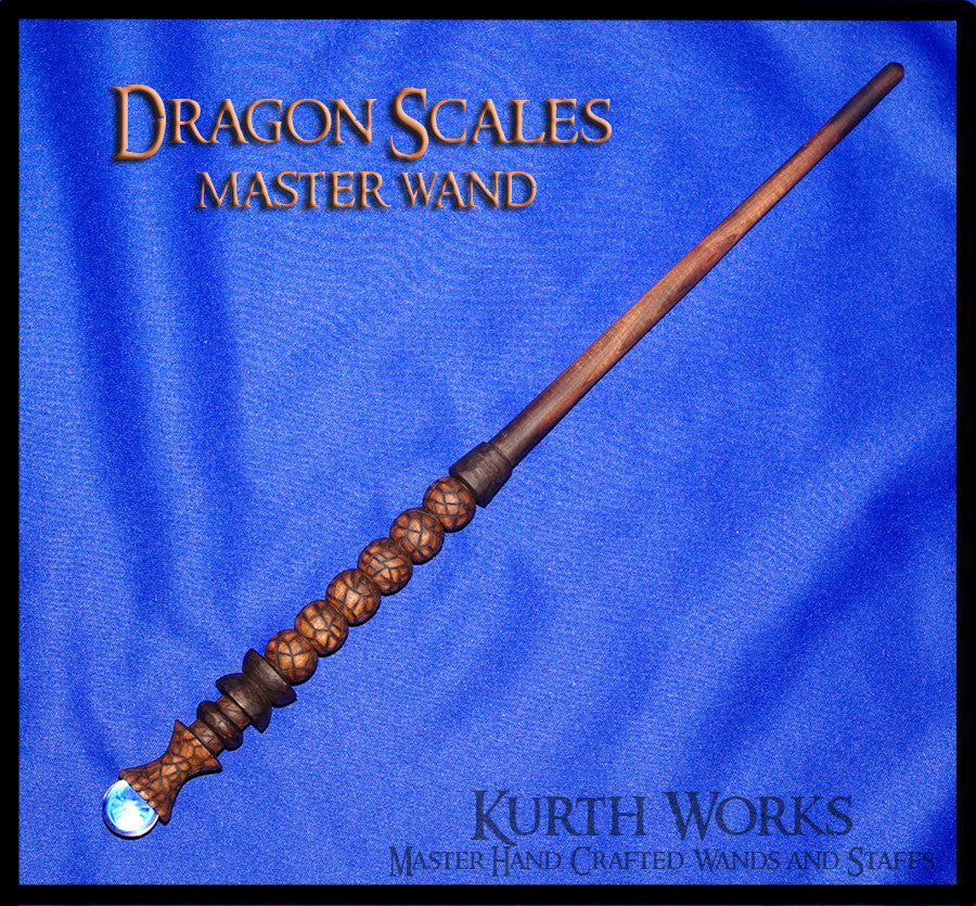 Dragon Scales Crystal Wizard Magic Wand