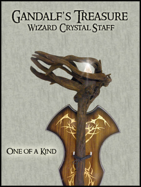 Gandalf's Treasure Magic Wizard Crystal Staff
