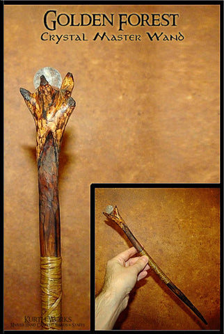 Golden Forest Master Crystal Wand 1