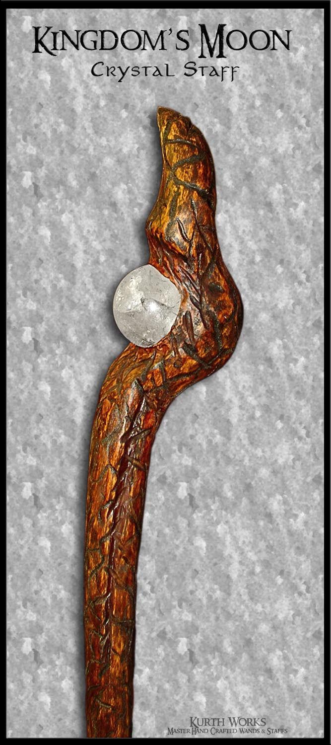 Kingdom's Moon Wizard Magic Crystal Staff