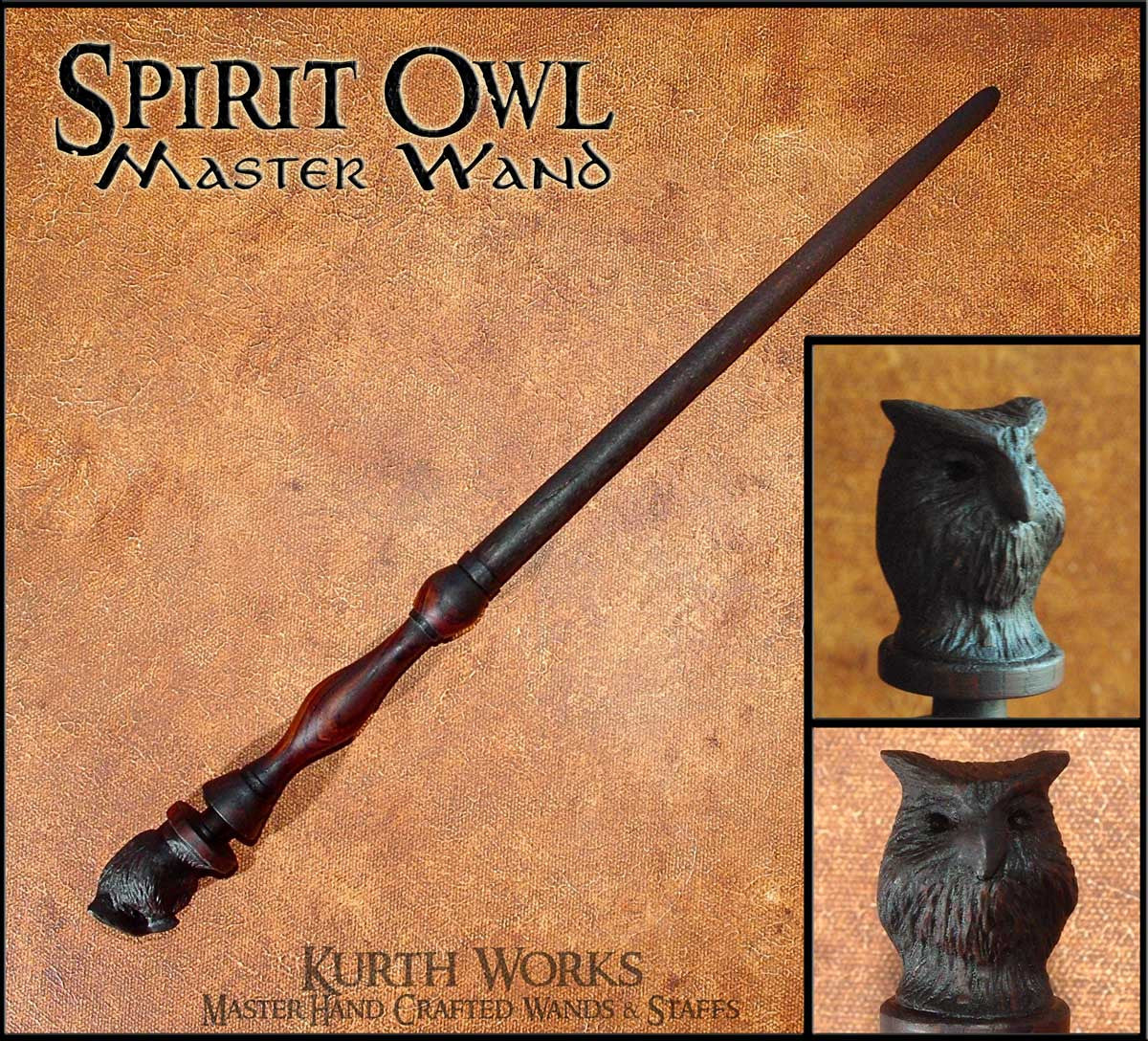 Spirit Owl Wizard Magic Wand
