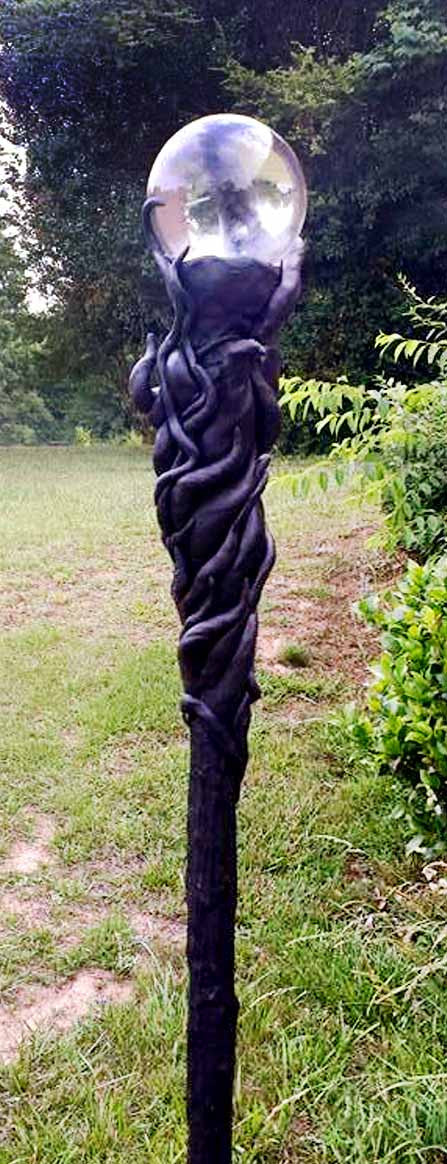Vine Covered Crystal Wizard Staff
