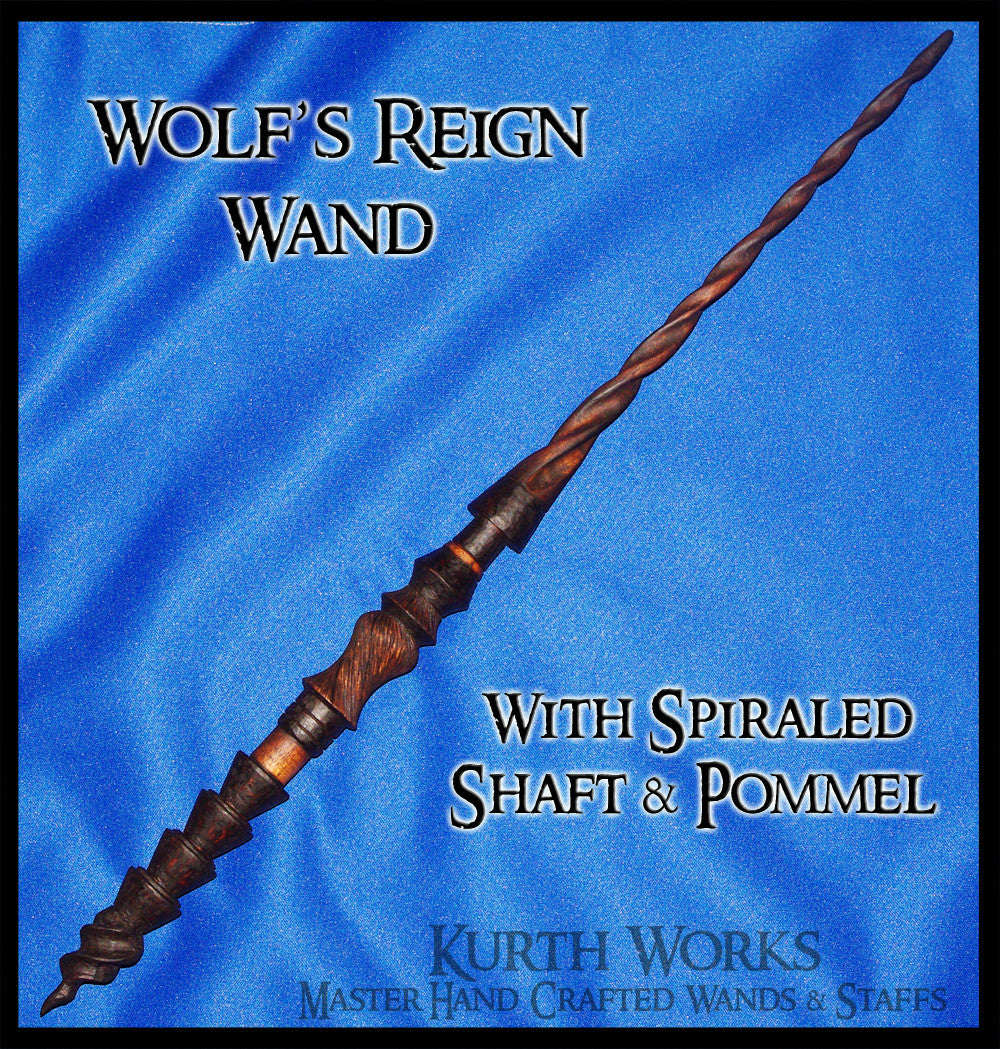 Wolf's Reign Spiraled Pommel Wizard Magic Wand