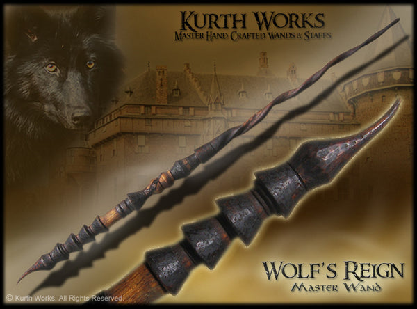 Wolf's Reign Spiraled Wizard Magic Wand