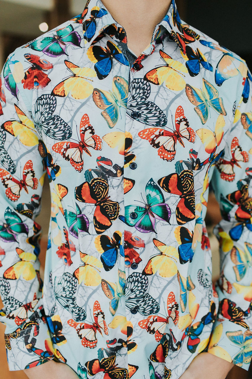 Brees Butterfly Button Down