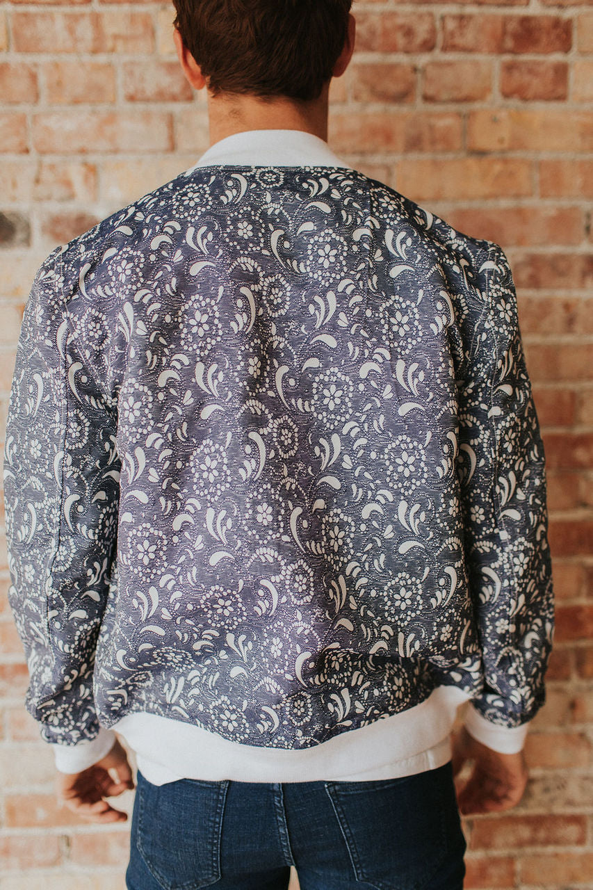 Maximillian Denim Paisley Bomber