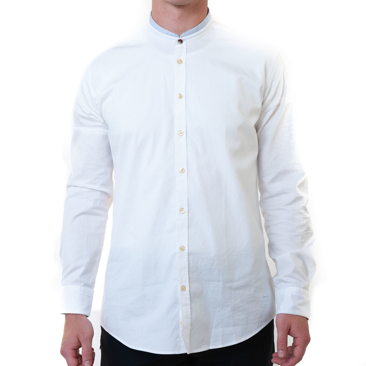 Ryland Nehru Button Down- White