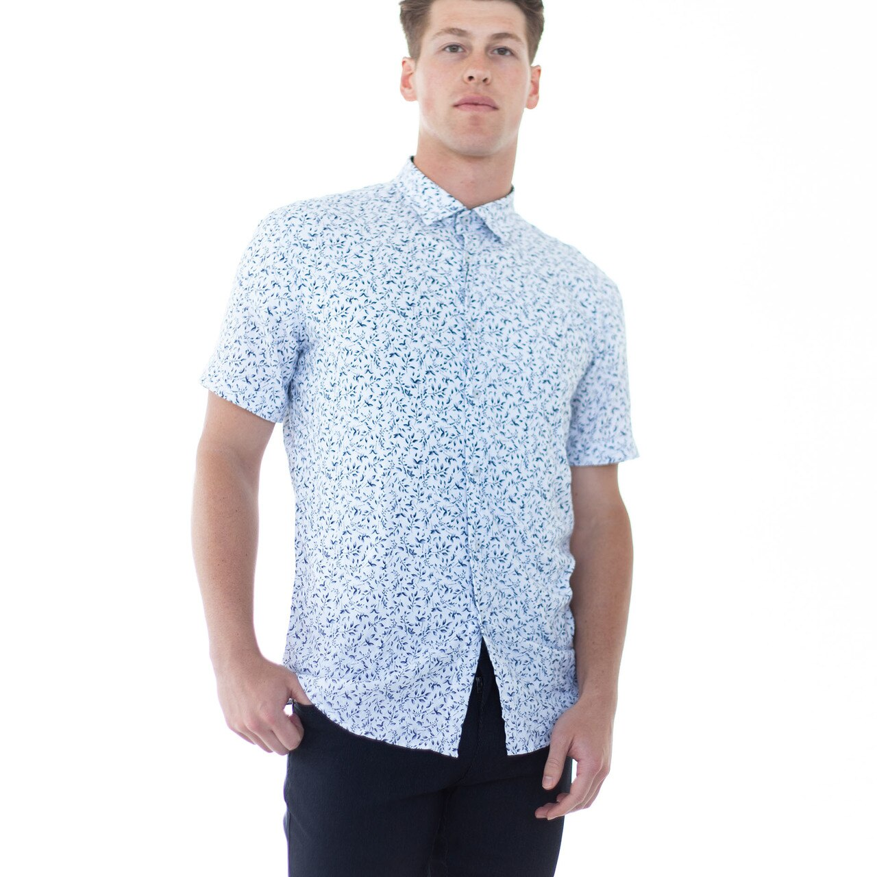 Luke Button Down - Navy