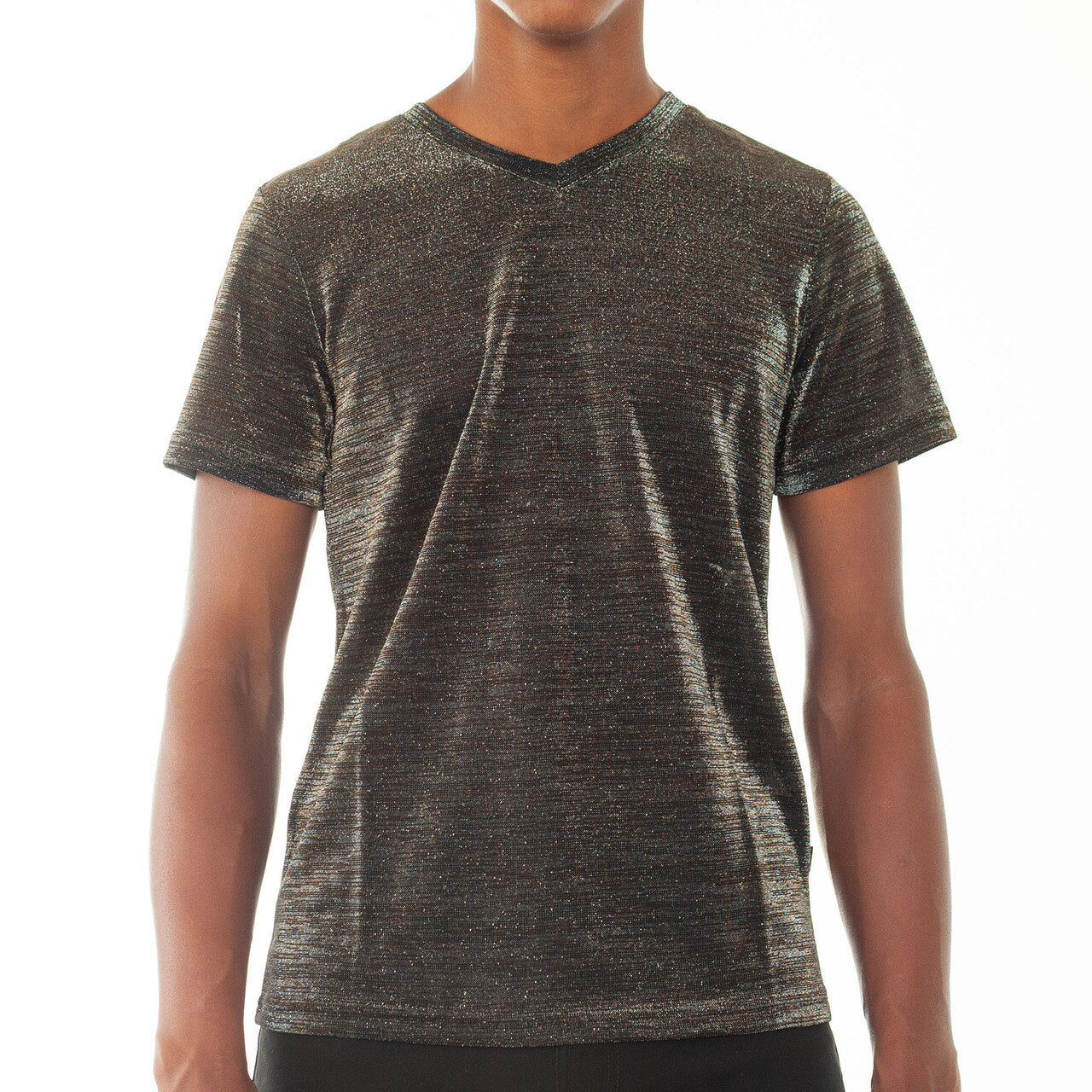 Maxim Metallic V-Neck - Silver