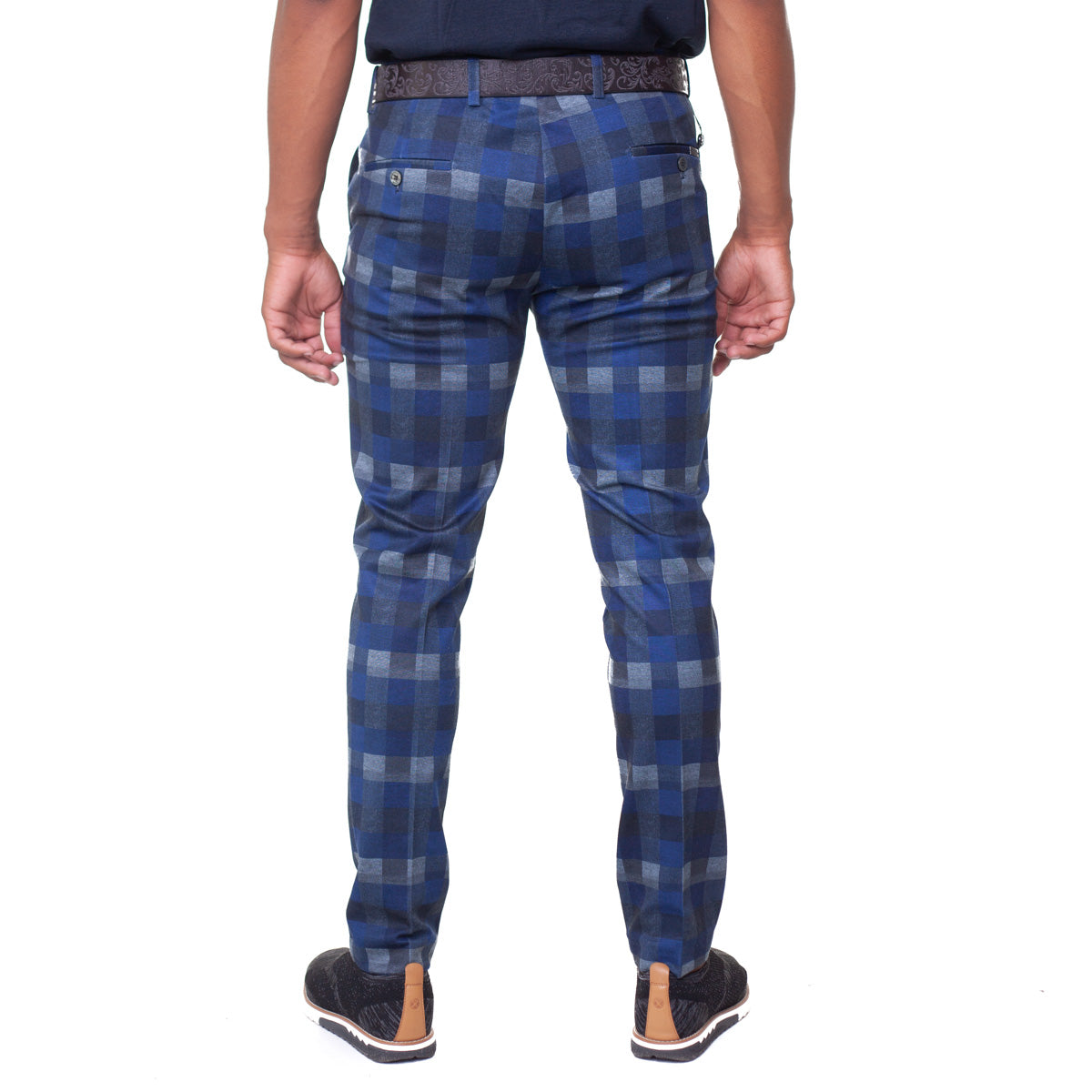 Banff Stretch Plaid Pants - Blue