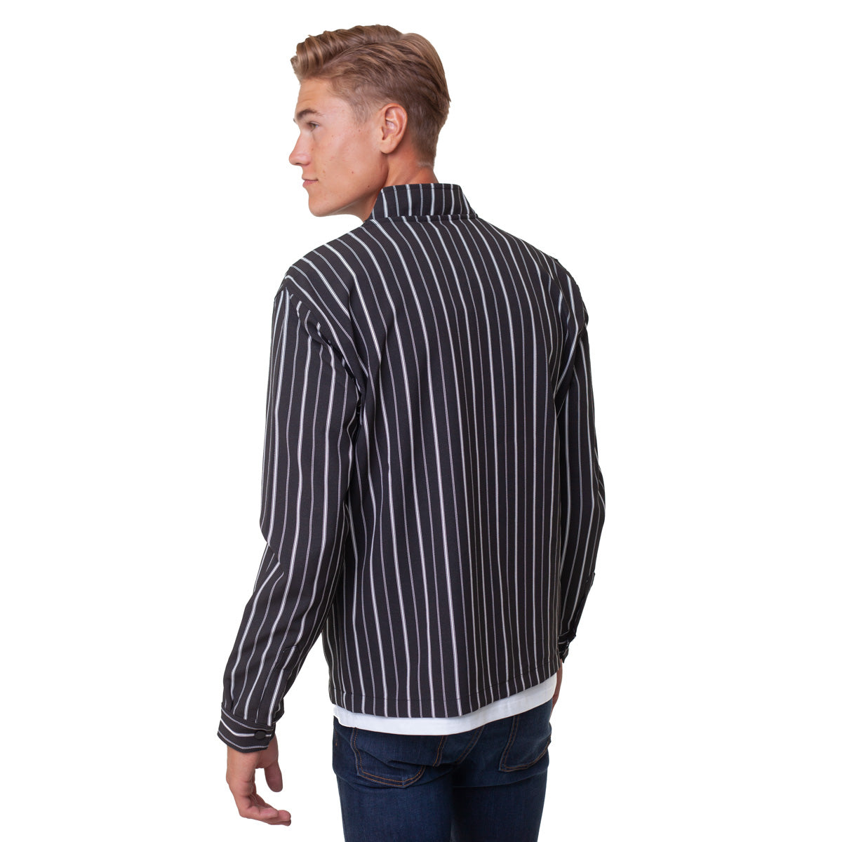 City Zip Shell Jacket - Striped