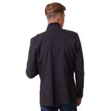 Epaulette Shoulder Stand Collar Jacket