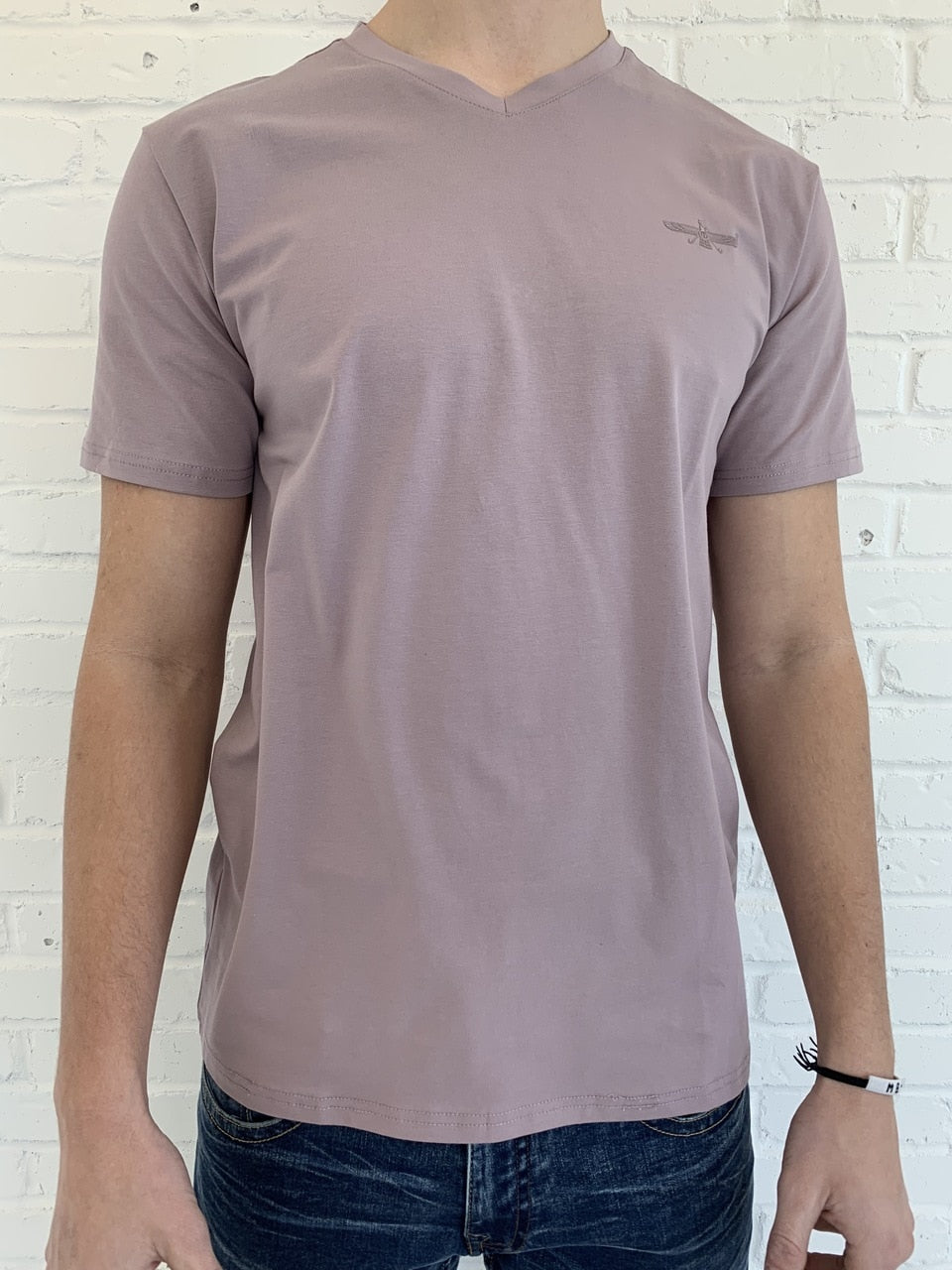 Gabin V-Neck T-Shirt - Lt. Purple