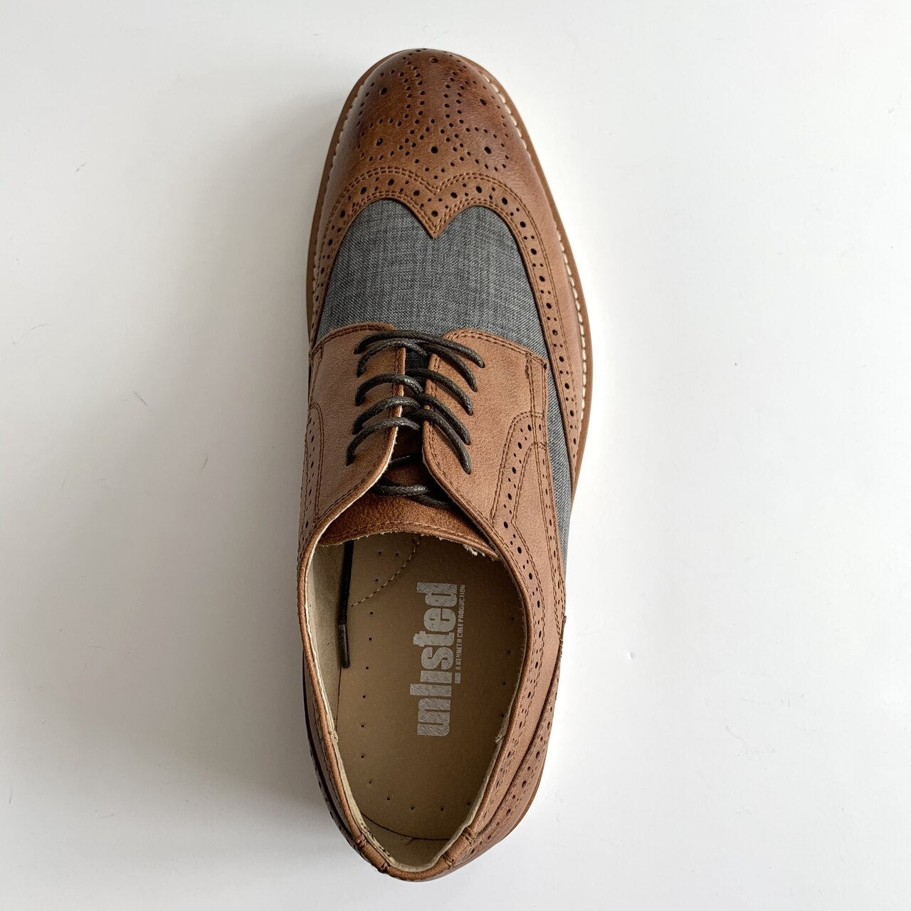 Jimmie Lace-Up Wingtip - Grey/Brown