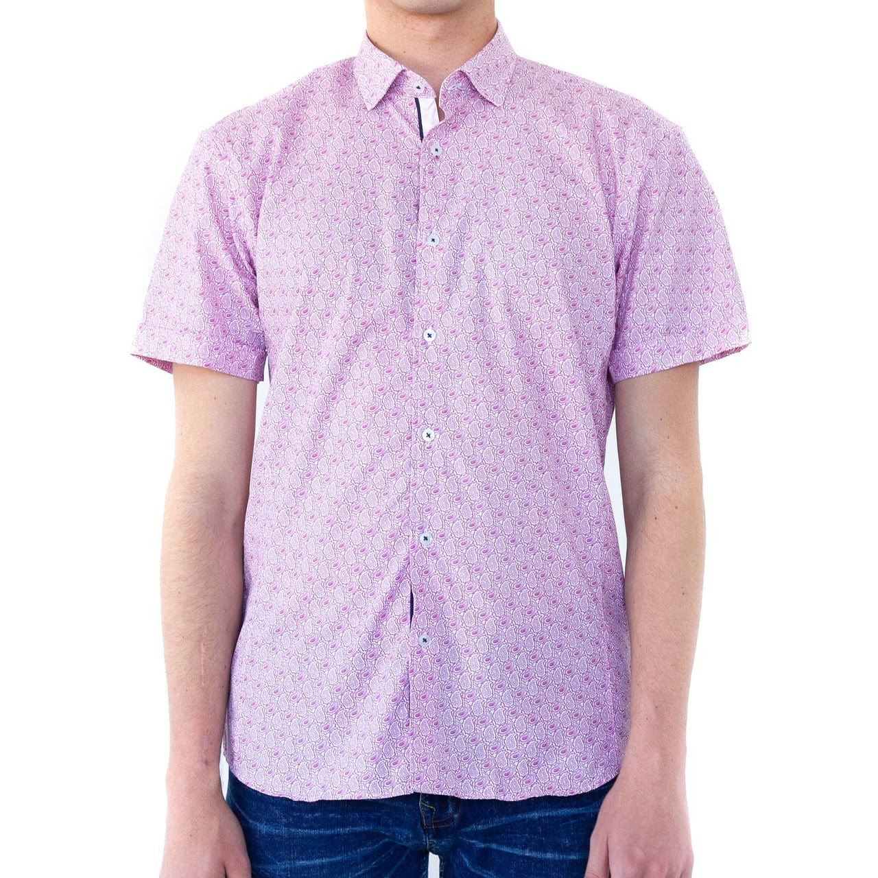 Pink Strands Button Down