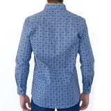 Medallion Button Down - Blue