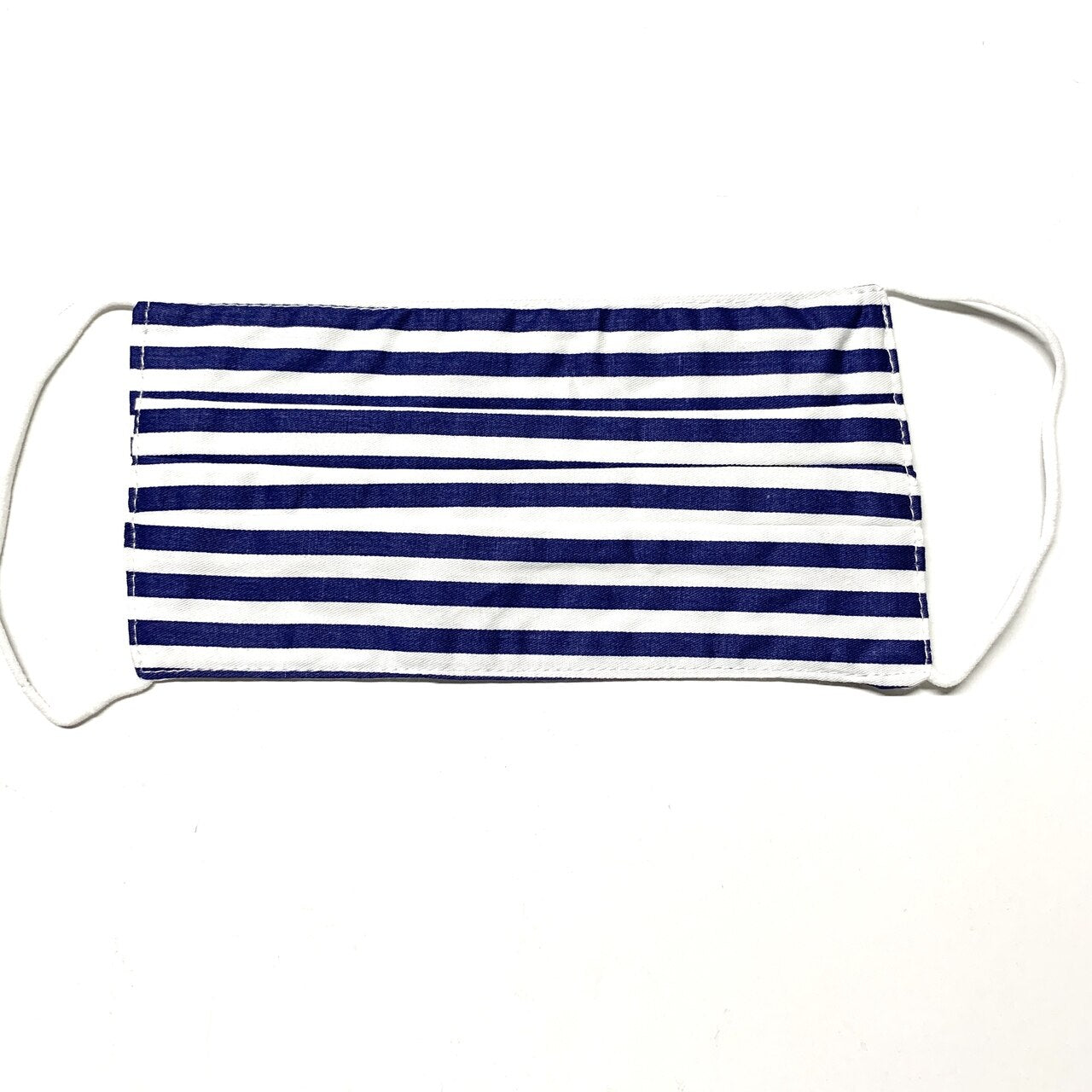 Navy and White Stripe Mask - 19