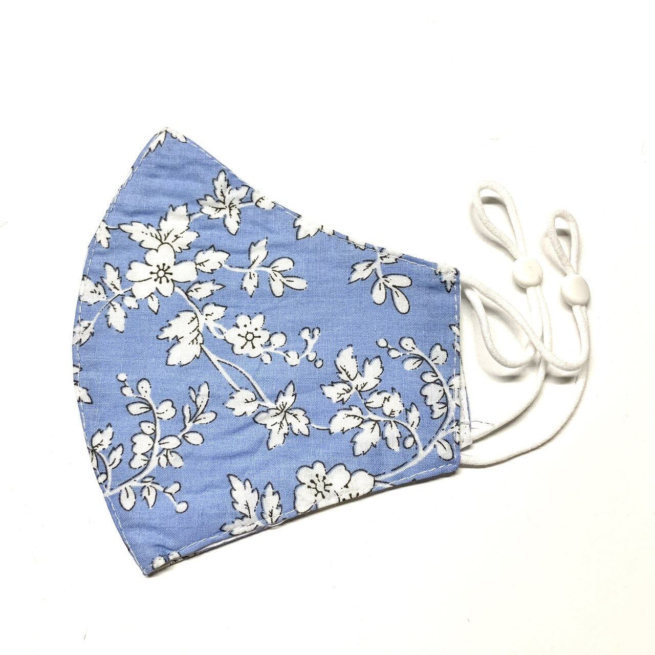 Blue and White Floral Mask - 06