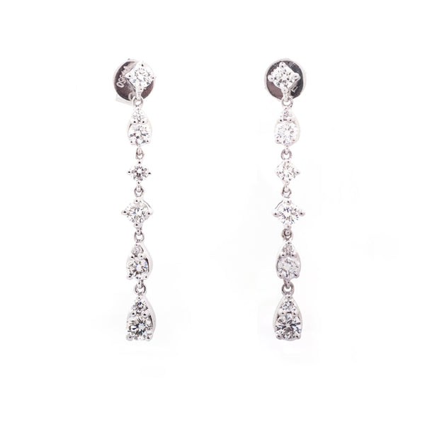 custom designed diamond line earrings