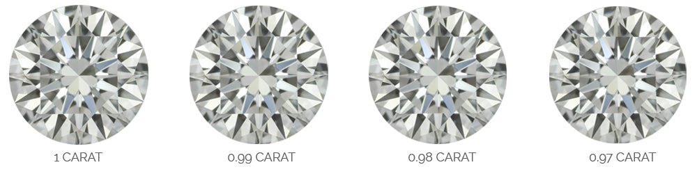 diamonds weighing around one carat