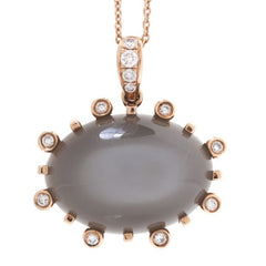 Madison moonstone diamond pendant