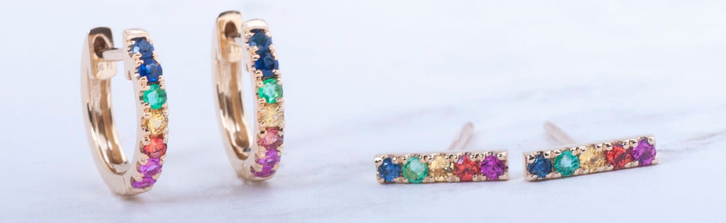 rainbow jewelry collection