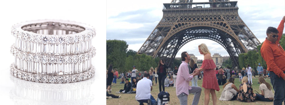 sarah proposal and ring eiffel tower