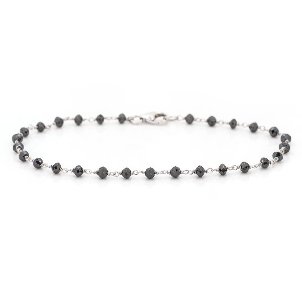 Eva Black Diamond Bead Bracelet