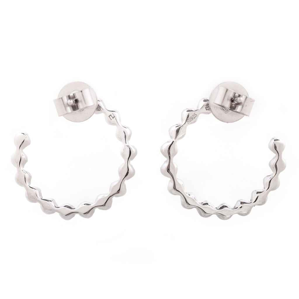 Contemporary Diamond Hoops 2